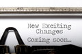 Exciting changes motivational saying Royalty Free Stock Photo
