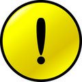 Exclamation attention vector button Royalty Free Stock Photo