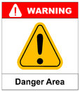 Exclamation danger area sign vector Royalty Free Stock Photo