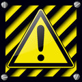 Exclamation danger sign Royalty Free Stock Image