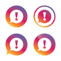 Exclamation mark sign icon. Attention symbol. Royalty Free Stock Photo