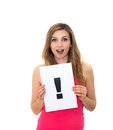 Exclamation point Royalty Free Stock Image