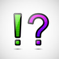 Exclamation and question mark Stock Photography