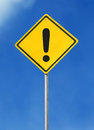 Exclamation sign board Royalty Free Stock Photo