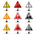 Exclamation sign hazard warning attention with vector Stock Images