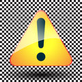 Exclamation yellow sign triangular danger and risk symbol on Royalty Free Stock Photo
