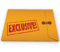 Exclusive classified information content yellow envelope word stamped on a confidential to symbolize or that requires special Stock Photography