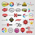 Exclusive collection colored universal icons Royalty Free Stock Images