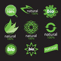 Exclusive eco logo natural products Stock Photos