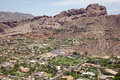 Exclusive homes on camelback mountain aerial perspective of in phoenix arizona Stock Photos
