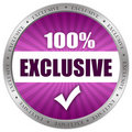 Exclusive icon Royalty Free Stock Photos