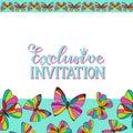 Exclusive Invitation Colorful Card Template