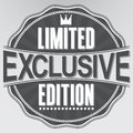 Exclusive limited edition retro label, vector Royalty Free Stock Photo