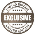 Exclusive limited edition stamp vector Royalty Free Stock Image