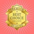 Exclusive Premium Quality Best Golden label guarantee Royalty Free Stock Photo