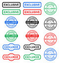 Exclusive stamp Royalty Free Stock Photo