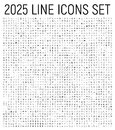 Exclusive 2025 thin line icons set.