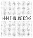 Exclusive 1444 thin line icons set. Royalty Free Stock Photo