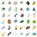 Excruciating icons set, isometric style Royalty Free Stock Photo