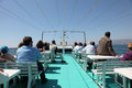 Excursion boat upper deck of an in malaga spain Royalty Free Stock Photo