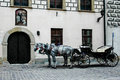 Excursion coach is in Cracov, Poland