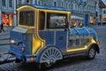 Excursion locomotive tallinn steam train to travel to the center of Royalty Free Stock Photos