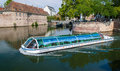 Excursion river bus in Strasbourg Royalty Free Stock Photo