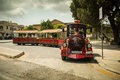 Excursion train in medina malta may the historical part of the city malta on may this is the first capital of malta Stock Photo