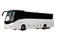 The excursion white bus Royalty Free Stock Photo