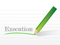 Execution written on a notepad paper illustration design Stock Photos
