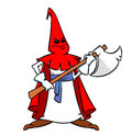 Executioner illustration cartoon medieval isolated personage Stock Photo