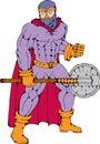 Executioner superhero with axe Royalty Free Stock Photo