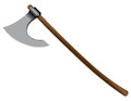Executioners ax on a long wooden handle vector illustration Royalty Free Stock Photo