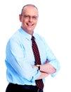 Executive businessman isolated on white background Royalty Free Stock Photo