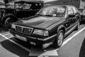 Executive car lancia thema berlin germany may engine ferrari v black and white th oldtimer day berlin brandenburg Royalty Free Stock Photo