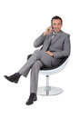 Executive in a swivel chair Stock Images