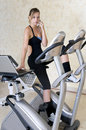 Executive woman doing exercise and working Royalty Free Stock Photos