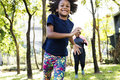 Exercise Activity Family Outdoors Vitality Healthy Concept Royalty Free Stock Photo