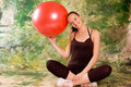 Exercise ball rollout Stock Photography