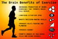 Exercise benefits having for the brain Royalty Free Stock Photography