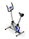 Exercise bike fitness salon equipment eps Royalty Free Stock Image