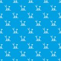 Exercise bike pattern seamless blue