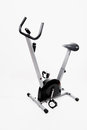 Exercise bike on white background Royalty Free Stock Photo