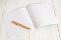 Exercise book jotter with pen Royalty Free Stock Photo