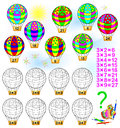 Exercise for children with multiplication by three. Royalty Free Stock Photo