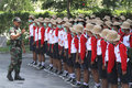Exercise Discipline Marching Line Royalty Free Stock Photo