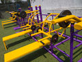 Exercise equipment the apparatus for outdoor Stock Photo