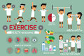 Exercise or sport for health and check your body infographics. v