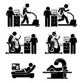 Exercise stress test for heart disease clipart illustrations showing the various available to risk this includes on treadmill and Royalty Free Stock Image