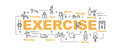 Exercise vector banner